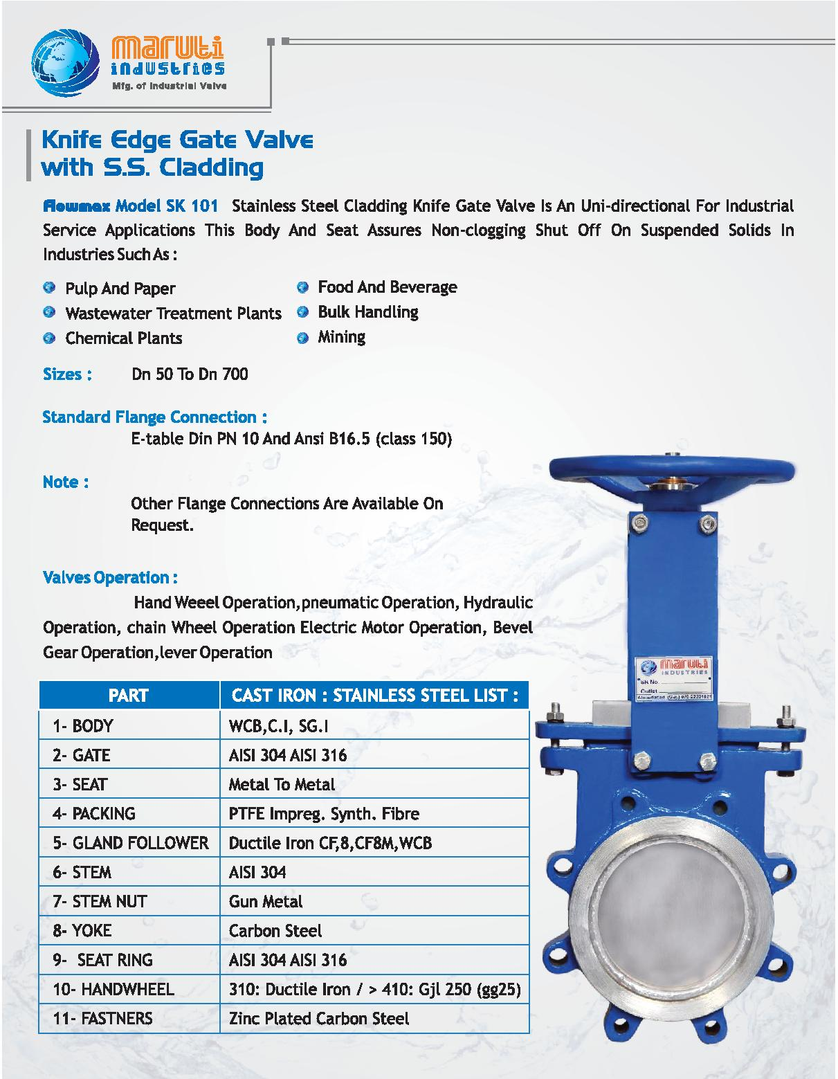 Knife Edge Gate Valve Manufacturers Suppliers